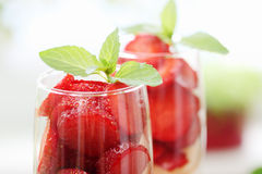 Strawberries with mint Royalty Free Stock Image