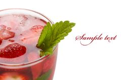 Strawberries mojito Royalty Free Stock Photos