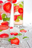 Strawberries mojito Stock Images