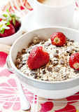 Strawberries with Muesli in a Bowl Royalty Free Stock Photos