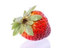 Strawberries. New strawberries on white background stock photos