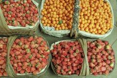 Strawberries oranges Stock Photography