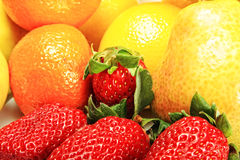 Strawberries and other fruits Stock Photos
