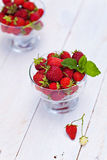 Strawberries outdoor Royalty Free Stock Photos
