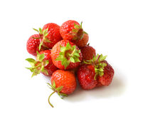 Strawberries  over  white background Royalty Free Stock Photos