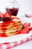 Strawberries pancake Stock Images
