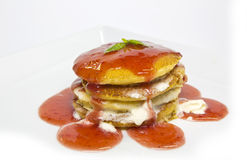 Strawberries Pancakes Royalty Free Stock Photo
