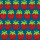 Strawberries  pattern Stock Photography