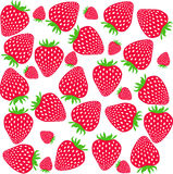 Strawberries pattern. Sweet strawberries on white background. Stock Photography