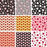 Strawberries patterns Stock Photos