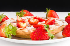 Strawberries and Pie Royalty Free Stock Photo