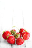 Strawberries place for text Stock Photo