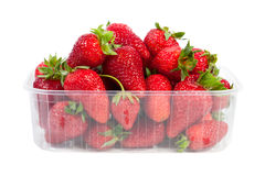 Strawberries in plastic packaging Stock Images