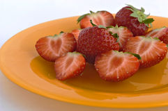 Strawberries on plate. Stock Images
