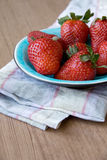 Strawberries on Plate Royalty Free Stock Images