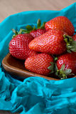 Strawberries on Plate Stock Photography