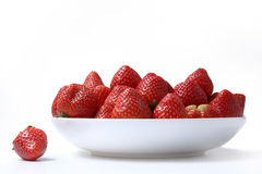 Strawberries on the plate Stock Images