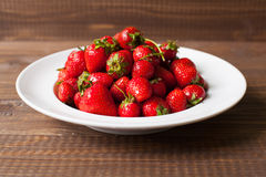 Strawberries on the plate Royalty Free Stock Image