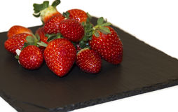 Strawberries on a plate Royalty Free Stock Photo