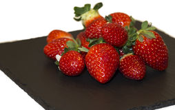 Strawberries on a plate Royalty Free Stock Photos