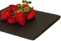 Strawberries on a plate Stock Photo