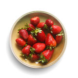 Strawberries on plate Royalty Free Stock Photography