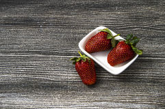 The strawberries on a plate,the most beautiful and appetizing strawberries pictures,strawberries on white background Stock Images