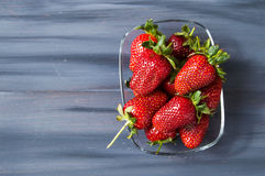 The strawberries on a plate,the most beautiful and appetizing strawberries pictures,strawberries on white background Stock Photo