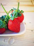 strawberries on plate Royalty Free Stock Photo