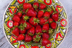 Strawberries in plate Royalty Free Stock Image