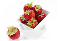 Strawberries in Porcelain Bowl Royalty Free Stock Photo