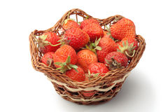 Strawberries in pottle Stock Images