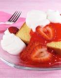Strawberries & Pound Cake Stock Photo