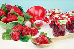 Strawberries and Preserves Royalty Free Stock Images