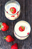 Strawberries pudding Royalty Free Stock Image