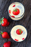Strawberries pudding Royalty Free Stock Photos