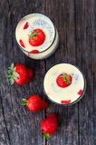 Strawberries pudding Royalty Free Stock Images