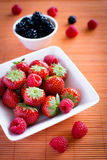 Strawberries, raspberries, blackberries Royalty Free Stock Image