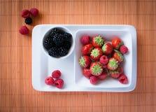 Strawberries, raspberries, blackberries Stock Image