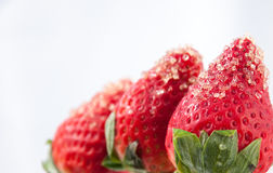Strawberries and Raw Sugar Stock Photos