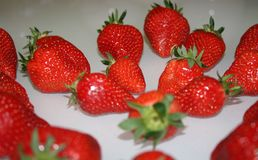 Strawberries. Ready to eat taste in the kitchen Stock Images