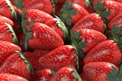 Strawberries. Realistic 3d render of strawberries Royalty Free Stock Photography