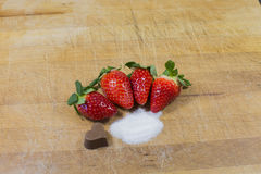 Strawberries, red fruit. A food full of vitamins royalty free stock photography