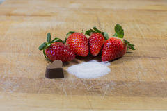 Strawberries, red fruit. A food full of vitamins royalty free stock photo