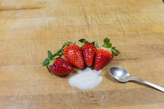 Strawberries, red fruit. A food full of vitamins royalty free stock photos