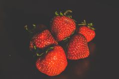 Strawberries. Red strawberries on the table Royalty Free Stock Image