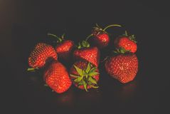 Strawberries. Red strawberries on the table Stock Image