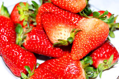 Strawberries. Ripe strawberries on a white background Royalty Free Stock Photos