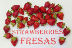 Strawberries. Ripe strawberries on white background Royalty Free Stock Images