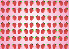 Strawberries Row Royalty Free Stock Photos